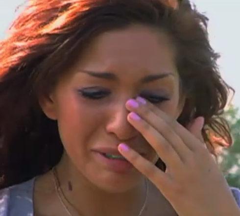 Farrah Abraham visits Derek's grave