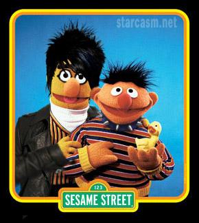 Sesame Street's Adam Lambert and Ernie