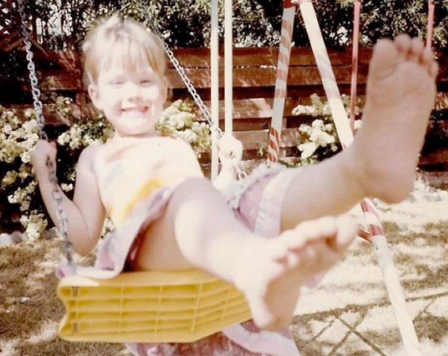 Childhood photo of Amy Purdy