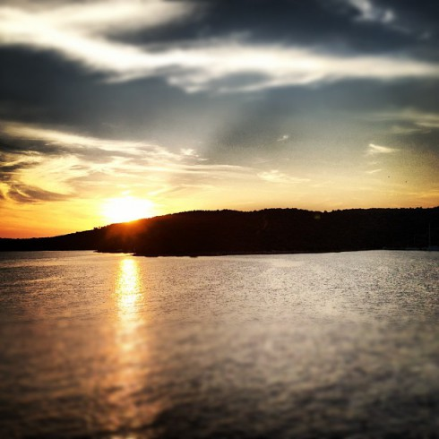 Anderson Cooper Croatian sunset photo on Instagram