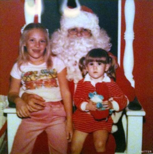 Brandi Passante as a kid on Santa's lap