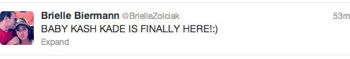 Brielle Zolciak Biermann announces birth of Kash Kade on Twitter