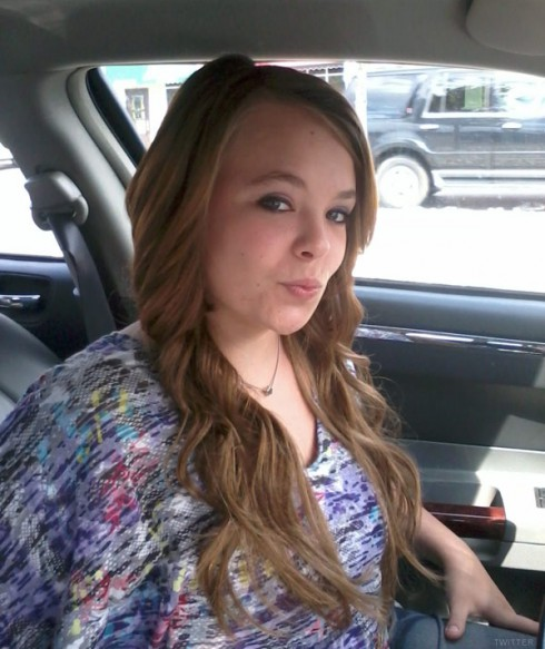 Teen Mom Catelynn Lowell shows off new long hair August 21 2012