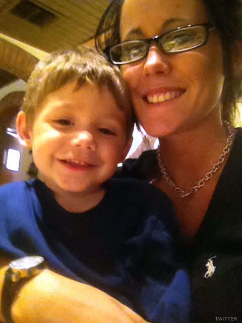 Teen Mom Jenelle Evans and son Jace on his third birthday