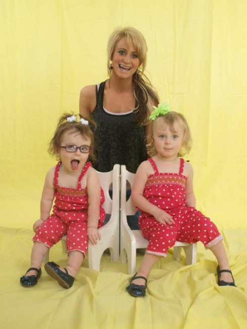 Teen Mom 2 Leah Messer and her twin daughters Aliannah and Aleeah