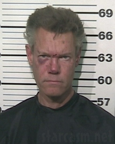 Randy Travis nug shot photo from August 2012 arrest for DWI and retaliation