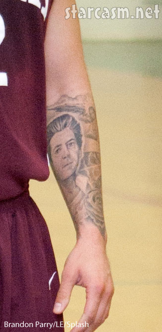 Robert Kardashian tattoo of dad