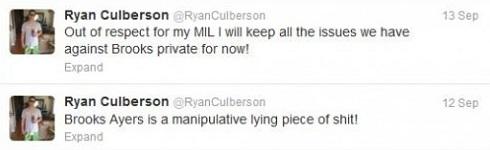 Ryan Culberson attacks Brooks Ayers on Twitter