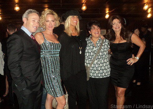Michael Lorber, Sonja Morgan, Wendy Madden, Rosie Pierri, and Kathy Wakile pose at Cat Ommanney's book launch