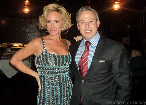 Sonja Morgan of 'Real Housewives of New York' and Michael Lorber of 'Million Dollar Listing NY' pose together at Cat Ommanney's book launch