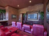 Theater in Adrienne Maloof and Dr. Paul Nassif's Beverly Hills home
