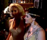 Hanna and Aria in costume from the Pretty Little Liars Season 3 Halloween episode
