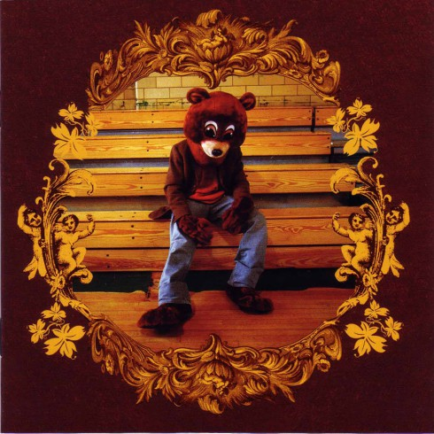 Kanye West College Dropout album cover with teddy bear