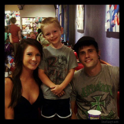 Ryan Edwards with girlfriend Dalis Connell and Bentley
