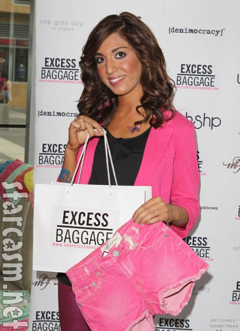 Farrah Abraham with swag at a 2012 VMAs gifting suite