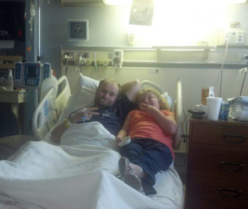 Honey Boo Boo Alana Thompson and dad Mike Sugar Bear Thompson in the hospital