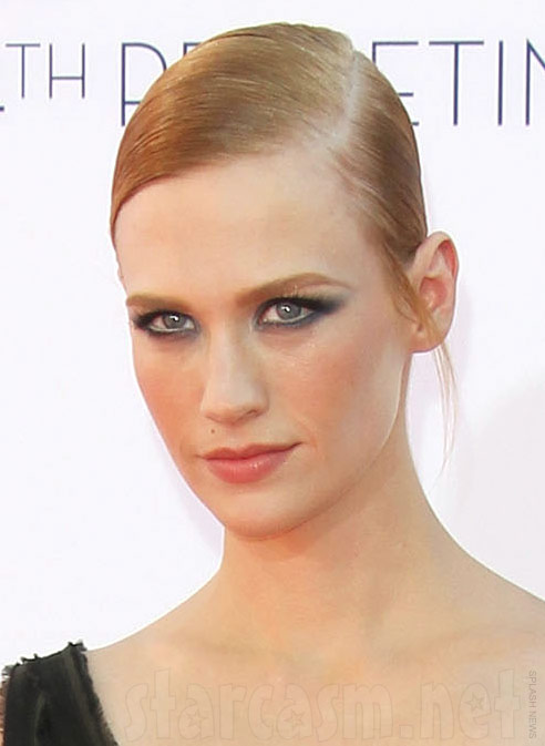 January Jones goth makeup at 2012 64th Primetime Emmys