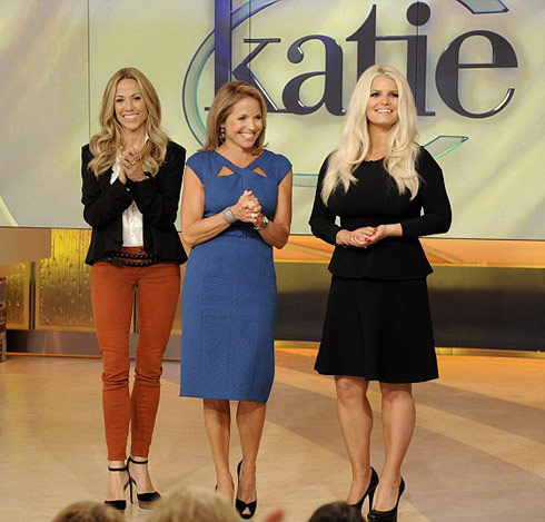 Jessica Simpson shows off post baby weight loss on Katie Couric show