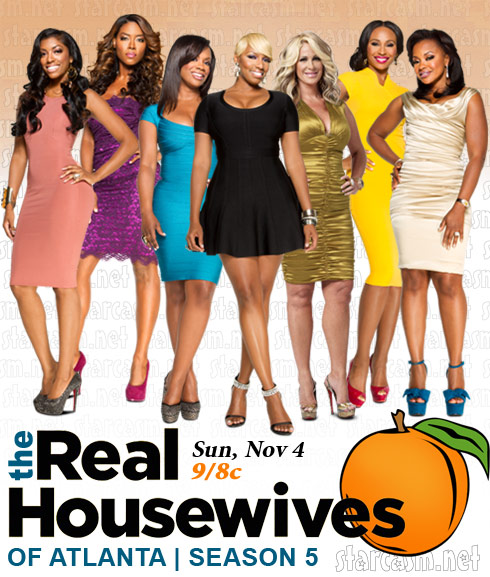 Real Housewives of Atlanta season 5 cast photo with Kenya Moore and Porsha Stewart