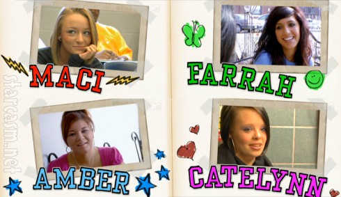 Original Teen Mom cast Maci Bookout Farrah Abraham Amber Portwood Catelynn Lowell