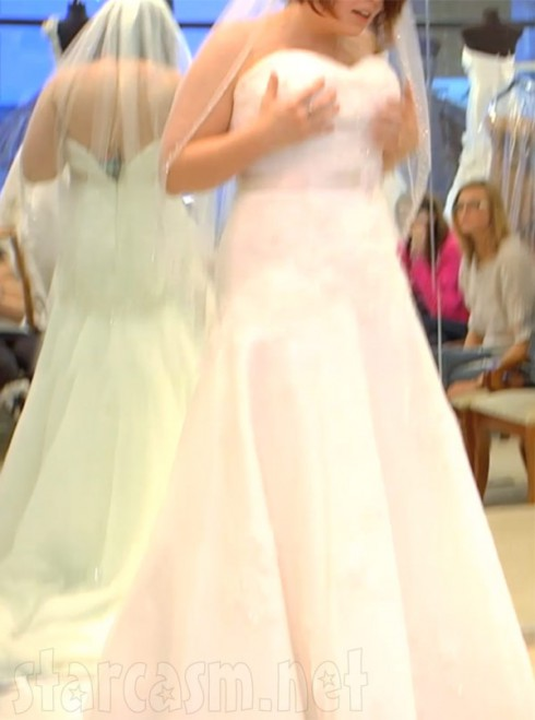 Catelynn Lowell's wedding dress full-length photo