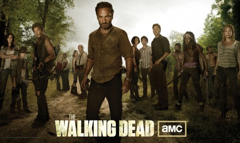Season 3 cast photo of The Walking dead including Michonne and The Governor