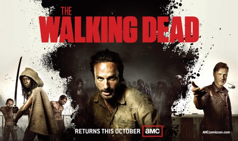 Michonne Rick Grimes and The Governor in The Walking Dead Season 3 Comic Con poster