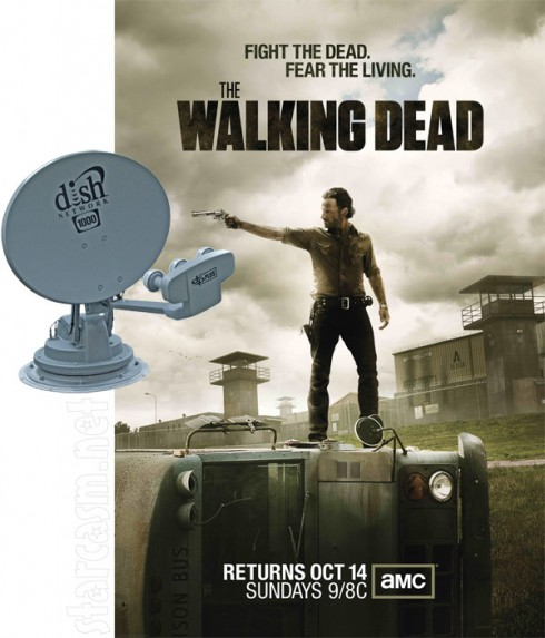 The Walking Dead funny photo with Dish Network
