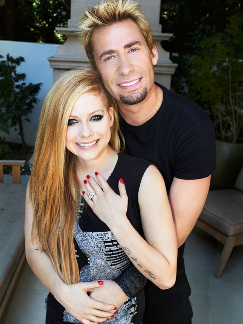 Avril Lavigne and Chad Kroeger together and engaged
