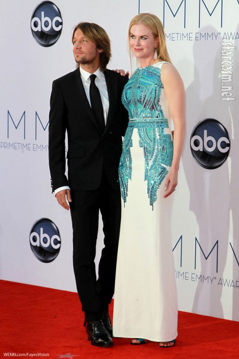 Nicole Kidman Emmy Awards 2012 Keith Urban