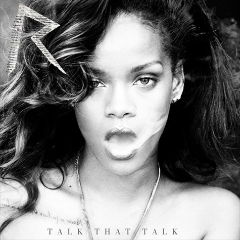 Rihanna Talk That Talk album cover with letter R logo