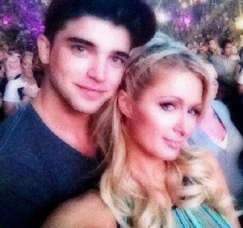 Paris Hilton and River Viiperi attend Justin Bieber concert before River's late night arrest