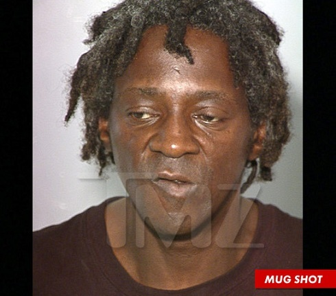Flavor Flav mug shot after arrest for assault with a deadly weapon