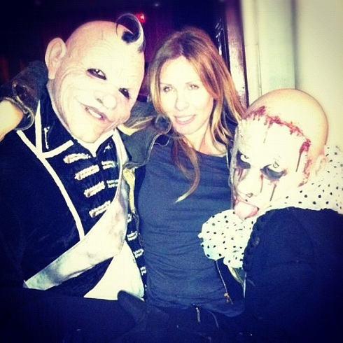 'Real Housewives of New York' star Carole Radziwill poses with zombies for Halloween