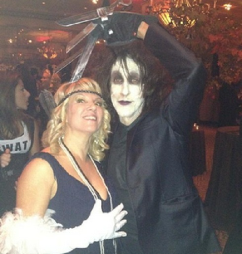 'Real Housewives of New York' star Ramona Singer and Edward Scissorhands on Halloween