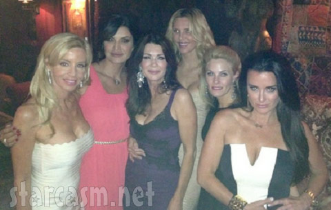 Jennifer Gimenez with the cast of 'Real Housewives of Beverly Hills' in Las Vegas