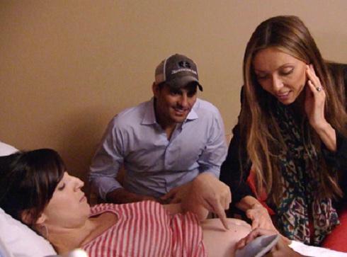 Bill and Giuliana Rancic with their surrogate on 'Giuliana & Bill'