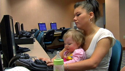 Amber Portwood and baby Leah on 'Teen Mom'