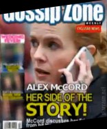 Real Housewives of New York City Alex McCord Gossip Zone tabloid magazine cover