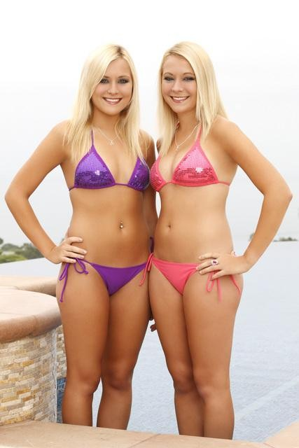 Twins Brittany and Erica Taltos from Bachelor Pad 3 and Jersey Shore