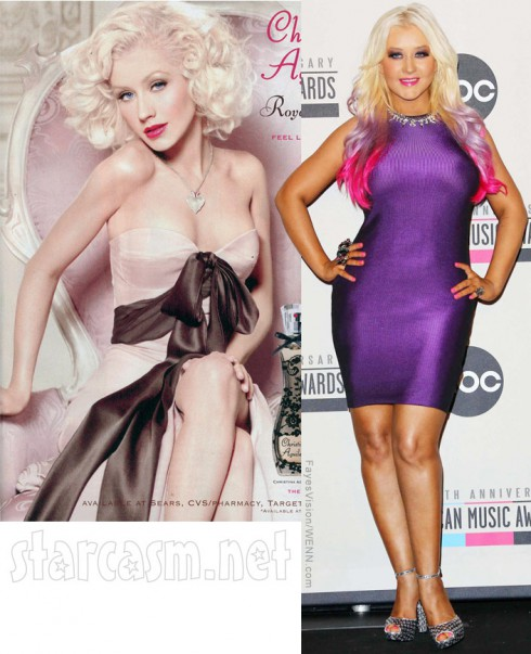 Christina Aguilera Royal Desire Photoshopped perfume advertisement