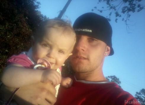 "Courtland Rogers with his daughter ""JaJa"" Jordan Lewis"