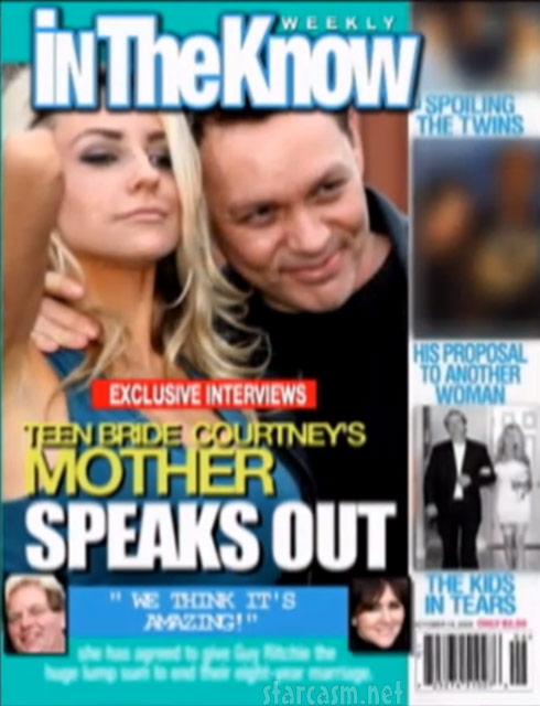 Courtney Stodden and Doug Hutchison In The Know magazine cover