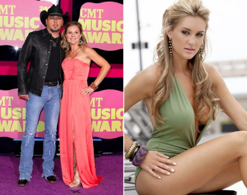 Jason Aldean, Jessica Ussery and Brittany-Kerr