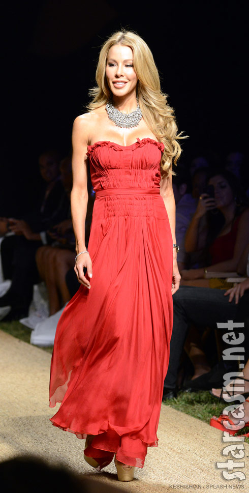 Lisa Hochstein Funkshion Fashion Week Miami Beach red dress charity event