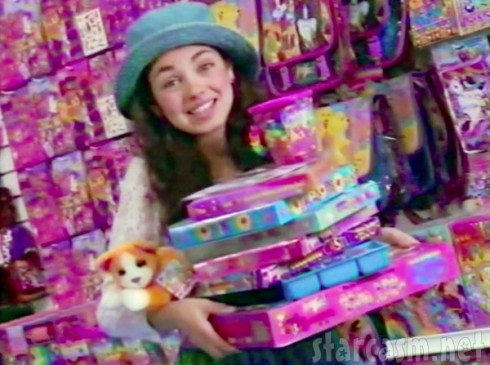 Young Mila Kunis in a television commercial for Lisa Frank stickers