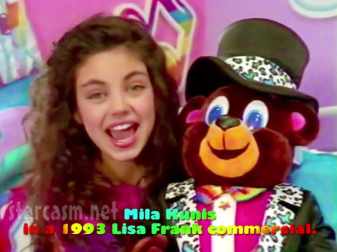 Mila Kunis in a 1994 Lisa Frank stickers commercial