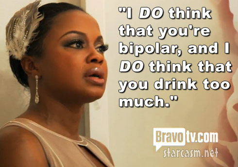Phaedra Parks tells Porsha Stewart she thinks she's bipolar and drinks too much