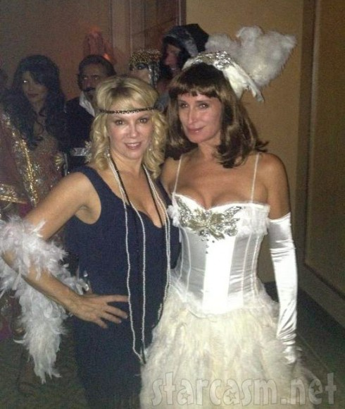 Ramona Singer and Sonja Morgan dressed in costumes for Halloween 2012