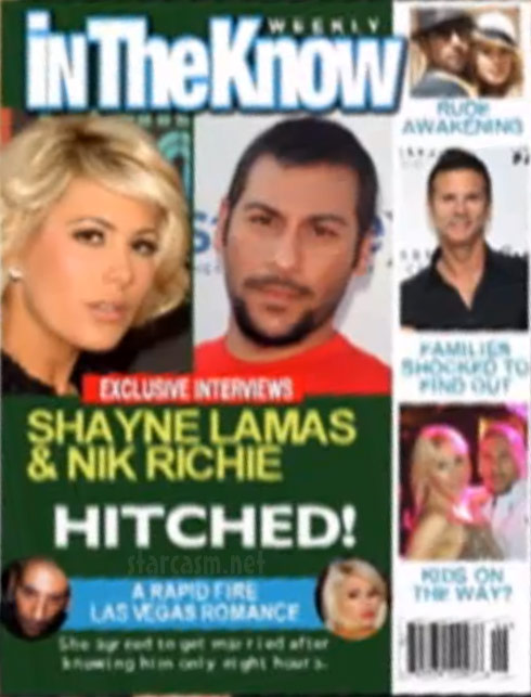 Nik Richie and Shayne Lamas In The Know tabloid magazine cover story
